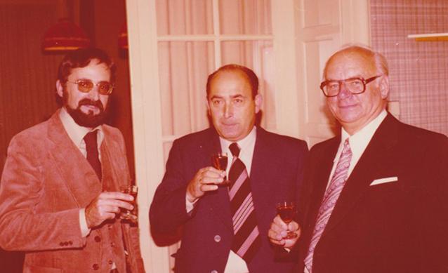 Karl Gruber, Siegfried Michel und Paul Frankenhauser (1978 im Löchnerhaus)